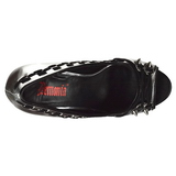 Polipiel 13,5 cm PIXIE-18 zapatos de salón punta abierta con tacón