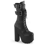 Polipiel 16 cm CRAMPS-202 plataforma botas de mujer con hebillas