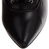 Polipiel 16 cm DAGGER-1023 cortas botines fetiche tacones altos
