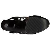 Polipiel 20 cm FLAMINGO-858 Zapatos Tacón Aguja Plataforma