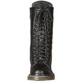 Polipiel 3,5 cm RIVAL-300 Botas de punk negros con cordones