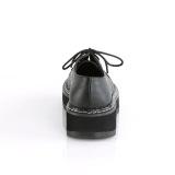 Polipiel 3 cm LILITH-99 Zapatos de punk negros con cordones