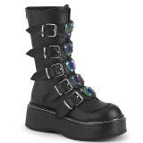 Polipiel 5 cm EMILY-330 plataforma botas de mujer con hebillas