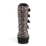Polipiel 5 cm EMILY-340 plataforma botas de mujer con hebillas