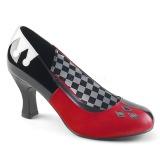 Polipiel 7,5 cm HARLEY-42 Pinup zapatos de salón tacón bajo