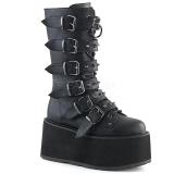 Polipiel 9 cm DAMNED-225 plataforma botas de mujer con hebillas