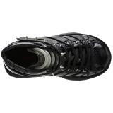Polipiel Negro 7,5 cm NEPTUNE-100 Zapatos de Goticas Hombres Plataforma