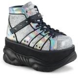 Polipiel Plata 7,5 cm NEPTUNE-100 Zapatos de Goticas Hombres Plataforma