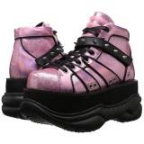 Polipiel Rosa 7,5 cm NEPTUNE-100 Zapatos de Goticas Hombres Plataforma