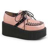 Polipiel Rosa CREEPER-206 Zapatos de creepers mujeres