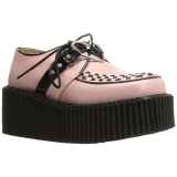 Polipiel Rosa CREEPER-206 Zapatos de creepers mujeres