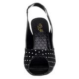 Puntos Blancos 11,5 cm CUTIEPIE-03 Negro Plataforma Zapatos de Salón