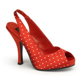 Puntos Blancos 11,5 cm CUTIEPIE-03 Rojo Plataforma Zapato de Salón