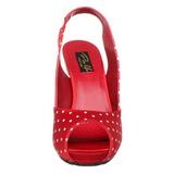 Puntos Blancos 11,5 cm CUTIEPIE-03 Rojo Plataforma Zapatos de Salón