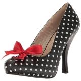 Puntos Blancos 11,5 cm PINUP-05 zapatos de salón tallas grandes