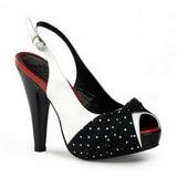 Puntos Blancos 12 cm BETTIE-09 Plataforma Zapatos de Salón