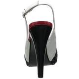 Puntos Blancos 12 cm retro vintage BETTIE-09 Plataforma Zapatos de Salón