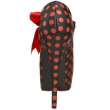 Puntos Rojo 14,5 cm Burlesque TEEZE-25 Negro Plataforma Zapatos de Salón