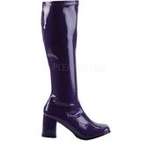 Purple Patent 8,5 cm Funtasma GOGO-300 Women Knee Boots