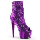 Purpura 18 cm ADORE-1008SQ botines con lentejuelas de mujer