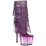 Purpura 18 cm ADORE-1017RSFT botines con flecos de mujer tacón altos