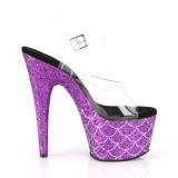 Purpura 18 cm ADORE-708MSLG brillo plataforma sandalias de tacón alto