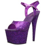 Purpura 18 cm ADORE-710LG brillo plataforma sandalias de tacón alto