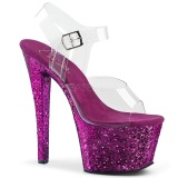 Purpura 18 cm SKY-308LG brillo plataforma sandalias de tacón alto