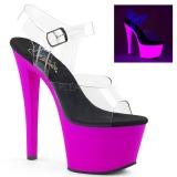 Purpura 18 cm SKY-308UV Neon plataforma sandalias de tacón alto