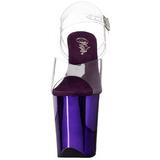Purpura 20 cm FLAMINGO-808 Cromo Plataforma Tacones Altos