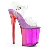 Purpura 20 cm FLAMINGO-808MCT sandalias de pole dance