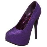 Purpura Brillo 14,5 cm Burlesque TEEZE-31G Platform Calzado de Salón