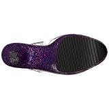 Purpura Brillo 20 cm FLAMINGO-808LG Plataforma Zapatos de Tacón Alto