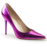 Purpura Metálico 10 cm CLASSIQUE-20 zapatos de stilettos tallas grandes