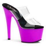 Purpura Neon 18 cm ADORE-702UV Plataforma Mules Calzado