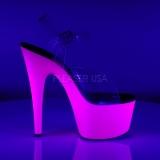 Purpura Neon 18 cm ADORE-708UV Tacones Altos Plataforma