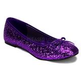 Purpura STAR-16G brillo zapatos de bailarinas mujer planos