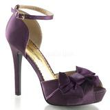 Purpura Satinado 12 cm LUMINA-36 Zapato Salón de Noche con Tacón