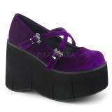 Purpura Terciopelo 11,5 cm KERA-10 zapatos lolita plataforma