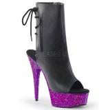Purpura purpurina 15 cm Pleaser DELIGHT-1018LG botines de pole dance