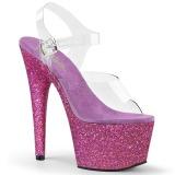 Purpura purpurina 18 cm Pleaser ADORE-708HMG Zapatos con tacones pole dance