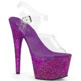 Purpura purpurina 18 cm Pleaser ADORE-708LG Zapatos con tacones pole dance