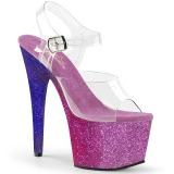 Purpura purpurina 18 cm Pleaser ADORE-708OMBRE Zapatos con tacones pole dance