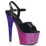 Purpura purpurina 18 cm Pleaser ADORE-709OMB Zapatos con tacones pole dance