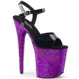 Purpura purpurina 20 cm Pleaser FLAMINGO-809LG Zapatos con tacones pole dance
