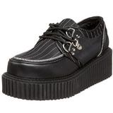 Rayas 5 cm CREEPER-113 creepers zapatos mujeres