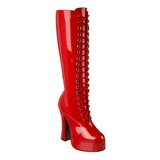 Red Shiny 13 cm ELECTRA-2020 High Heeled Womens Boots for Men