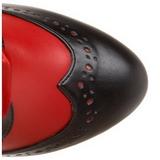 Rojo 11,5 cm BORDELLO TEMPT-126 Botas de cordones mujer