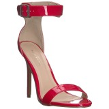Rojo 13 cm AMUSE-10 Zapatos para travestis