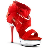 Rojo 14 cm Pleaser ALLURE-664 Tacones Altos Plataforma